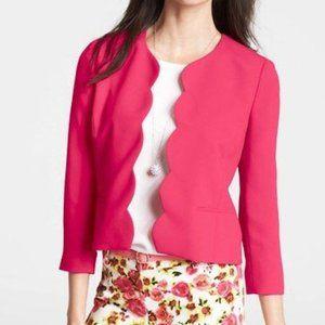 Ann Taylor NWT Pink Scalloped Edge Blazer